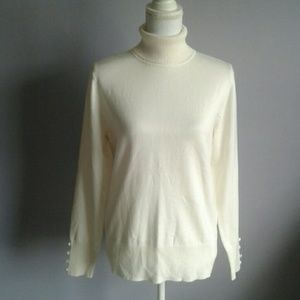Spense Knits Ivory Turtleneck